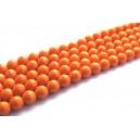 Turcoaz de sinteza microfafetat portocaliu sfere 6mm