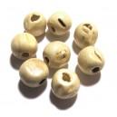 Margele lemn ivory 14*13mm - CU IMPERFECTIUNI