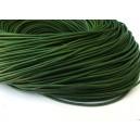 (1 metru) Snur piele naturala verde padure 2mm