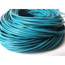 (1 metru) Snur piele naturala albastru 2mm