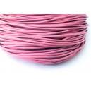 SPN2mm-19 -(1 metru) Snur piele naturala roz 2mm