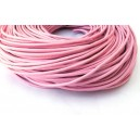 SPN2mm-20 -(1 metru) Snur piele naturala roz pal 2mm