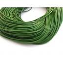 (1 metru) Snur piele naturala verde 1.5mm