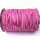 SPOL1.5mm-16 - (1 metru) Snur poliester cerat roz intens 1.5mm