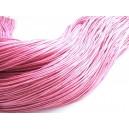 DISPONIBIL 1 BUCATA 0.42 METRI - Snur bumbac cerat roz intens 1mm - STOC FOARTE LIMITAT!!!