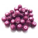 MS143 - Margele sticla lila intens sfere 10mm