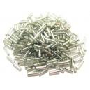 MT-04 - (19 grame) Margele nisip tub argintii cu miez argintiu 6mm