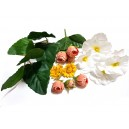 DISPONIBIL 1 SET - Set dov. flori artificiale si frunze