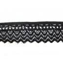 Dantela elastica neagra 30mm