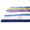 DISPONIBIL 1 SET 4.46 METRI (bucati sub 1 metru) - Mix panglici textile satenate div. culori 10mm