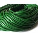 (1 metru) Snur piele naturala verde 2mm