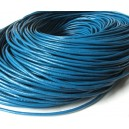 (1 metru) Snur piele naturala albastru intens 2mm