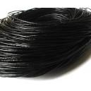 (1 metru) Snur piele naturala negru 1.5mm