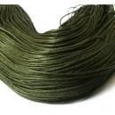 SBC1mm-08 - (1 metru) Snur bumbac cerat verde olive inchis 1mm