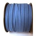 (1 metru) Snur faux suede albastru 3mm