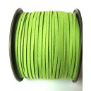 (1 metru) Snur faux suede verde fistic 3mm