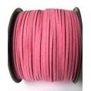 (1 metru) Snur faux suede roz movuliu 3mm