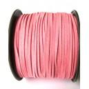 (1 metru) Snur faux suede roz 3mm