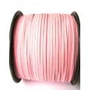 (1 metru) Snur faux suede roz pal 3mm