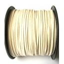 (1 metru) Snur faux suede ivory 3mm