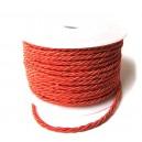 (1 metru) Snur dacron rosu portocaliu 3.5mm