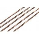 LC04 - (1 metru) Lant cupru 3.7*2.5*0.7mm - zale rasucite