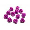 CRT7.5-26 - Cabochon rasina trandafir violet 7.5mm
