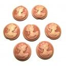 CRC04DEF - Cabochon rasina camee roz plamaniu 20mm