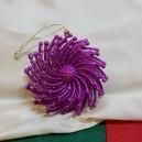 Ornament brad roz fucsia glitter 7.5cm