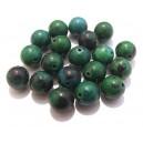 Chrysocolla de sinteza verde sfere 12mm