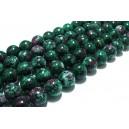 Morganite de sinteza verde sfere 10mm