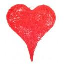 Inimioara rosie rattan 56*50cm - STOC FOARTE LIMITAT!!!