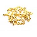 (1 pereche) Dopuri metalice cercei aurii 5.5*4mm