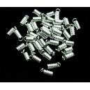 (20 buc.) Capat snur arc argintiu 9*3.5mm
