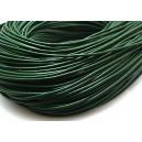 (1 metru) Snur piele naturala verde inchis 2mm