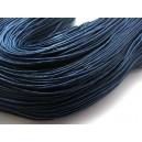 (1 metru) Snur bumbac cerat bleumarin 1mm