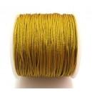 (1 metru) Snur nylon margele Shamballa mustar 1mm