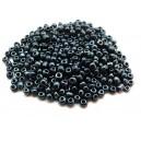 (45 grame) Margele nisip negru irizat 4mm