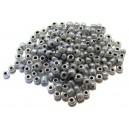MN4mm-05 - (45 grame) Margele nisip Ceylon gri inchis irizat 4mm