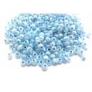 (45 grame) Margele nisip Ceylon bleu pal irizat 4mm