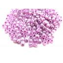 DISPONIBIL 1 PUNGA - MN4mm-34 - (45 grame) Margele nisip Ceylon roz lila irizat 4mm