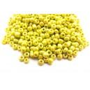 MN4mm-57 - (45 grame) Margele nisip galben mustar irizat 4mm