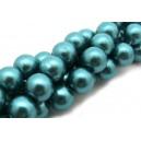 Perle sticla turcoaz 14mm