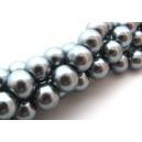 Perle sticla gri sfere 12mm