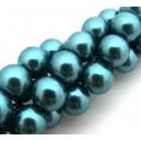 Perle sticla turcoaz sfere 12mm