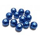 CU DEFECTE - PS12mm-11 - Perle sticla albastru intens sfere 12mm
