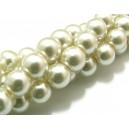PS12mm-27 - Perle sticla ivory 01 sfere 12mm