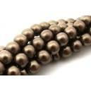 Perle sticla maro capuccino sfere 10mm