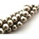 Perle sticla capuccino sfere 10mm