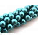 Perle sticla turcoaz sfere 10mm